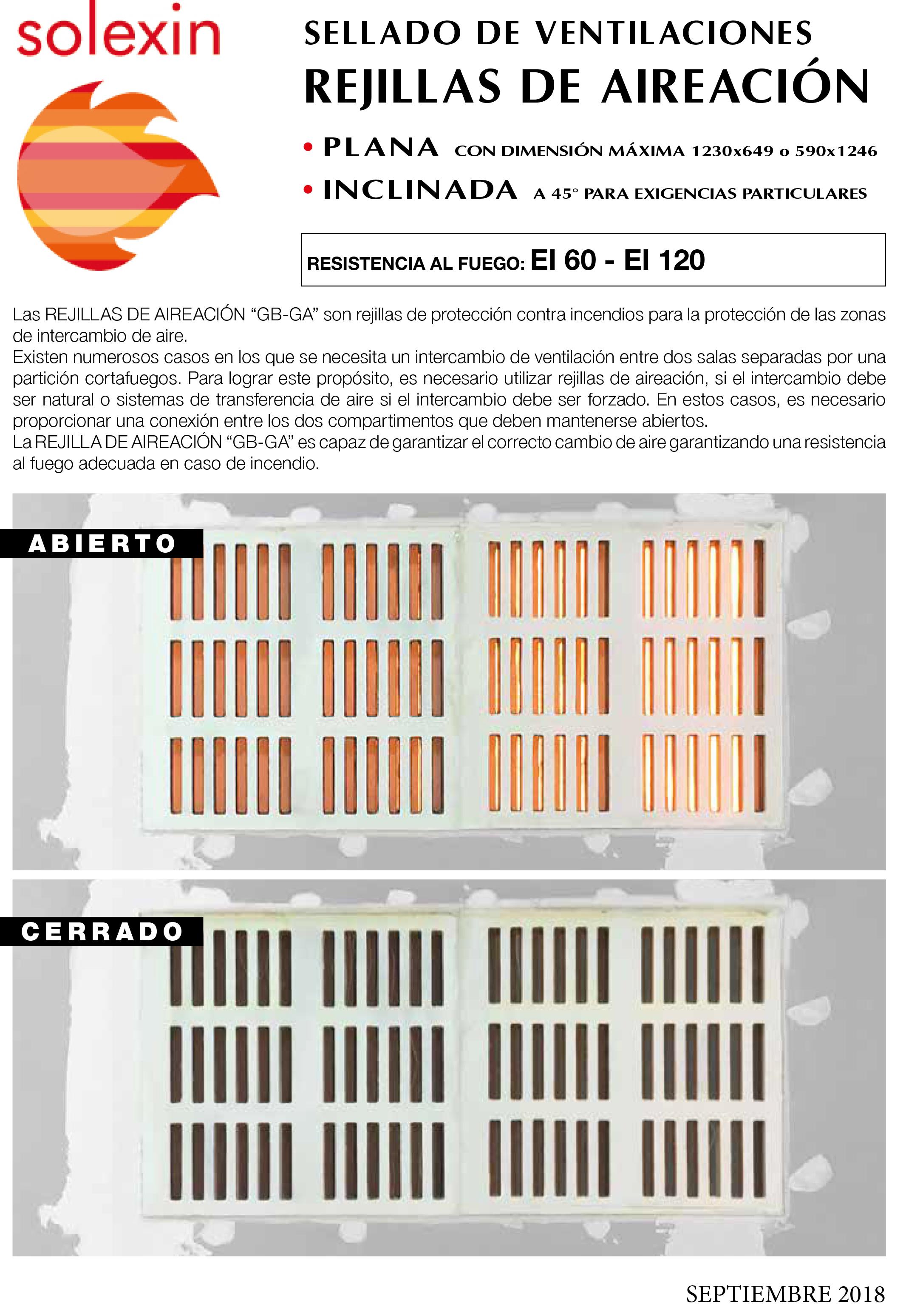 Catálogo - Rejilla de aireacion