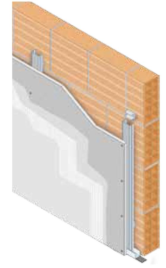 Trasdosado Estructura Montantes con Una Placa