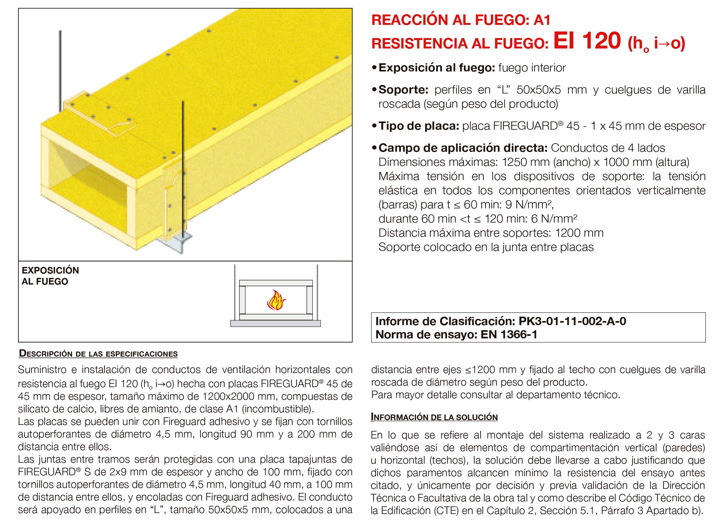 6.01 Conducto de Ventilacion Horizontal Fuego Interno con Placa EI120´