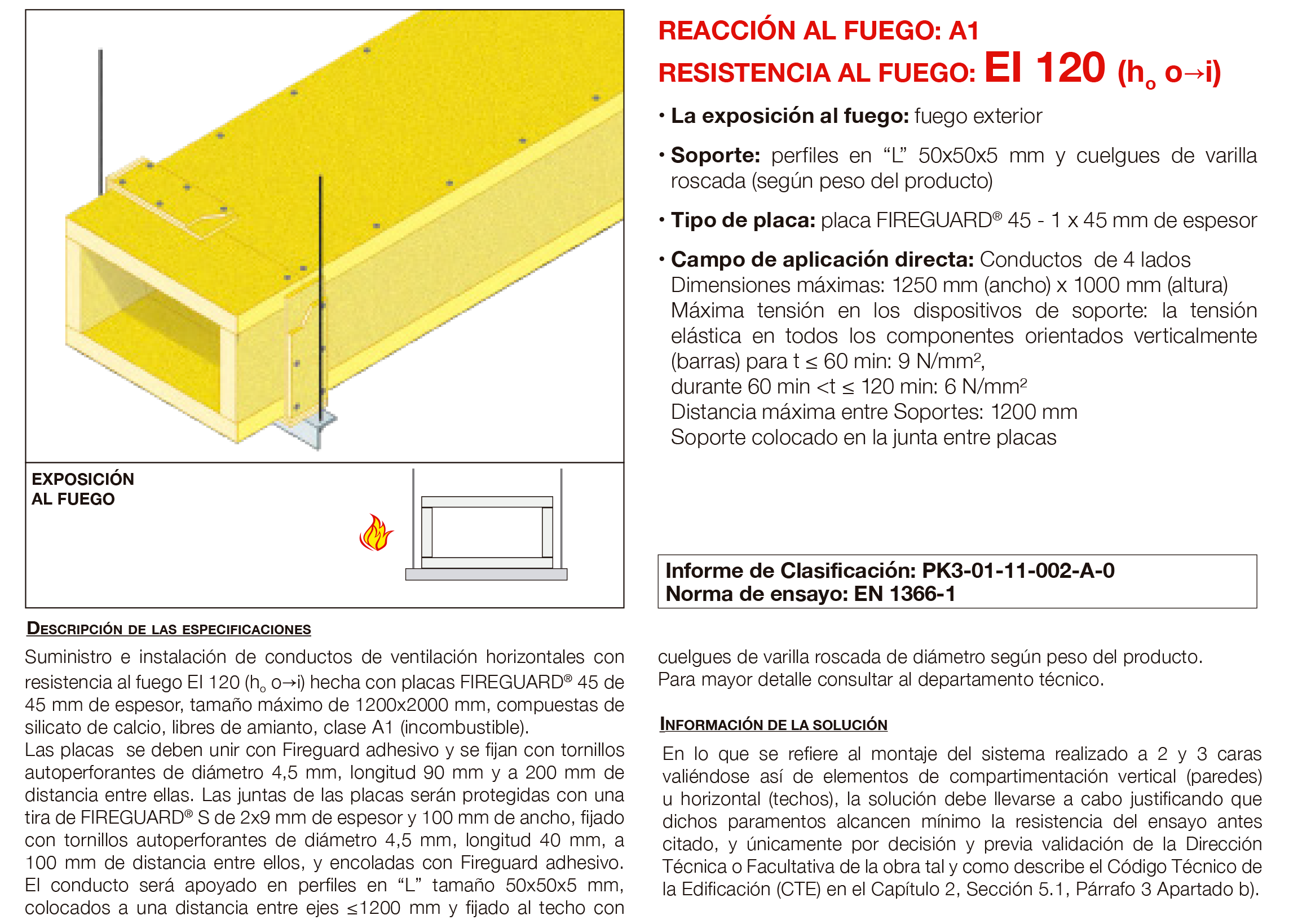 6.02 Conducto de Ventilacion Horizontal Fuego Externo con Placa EI120´