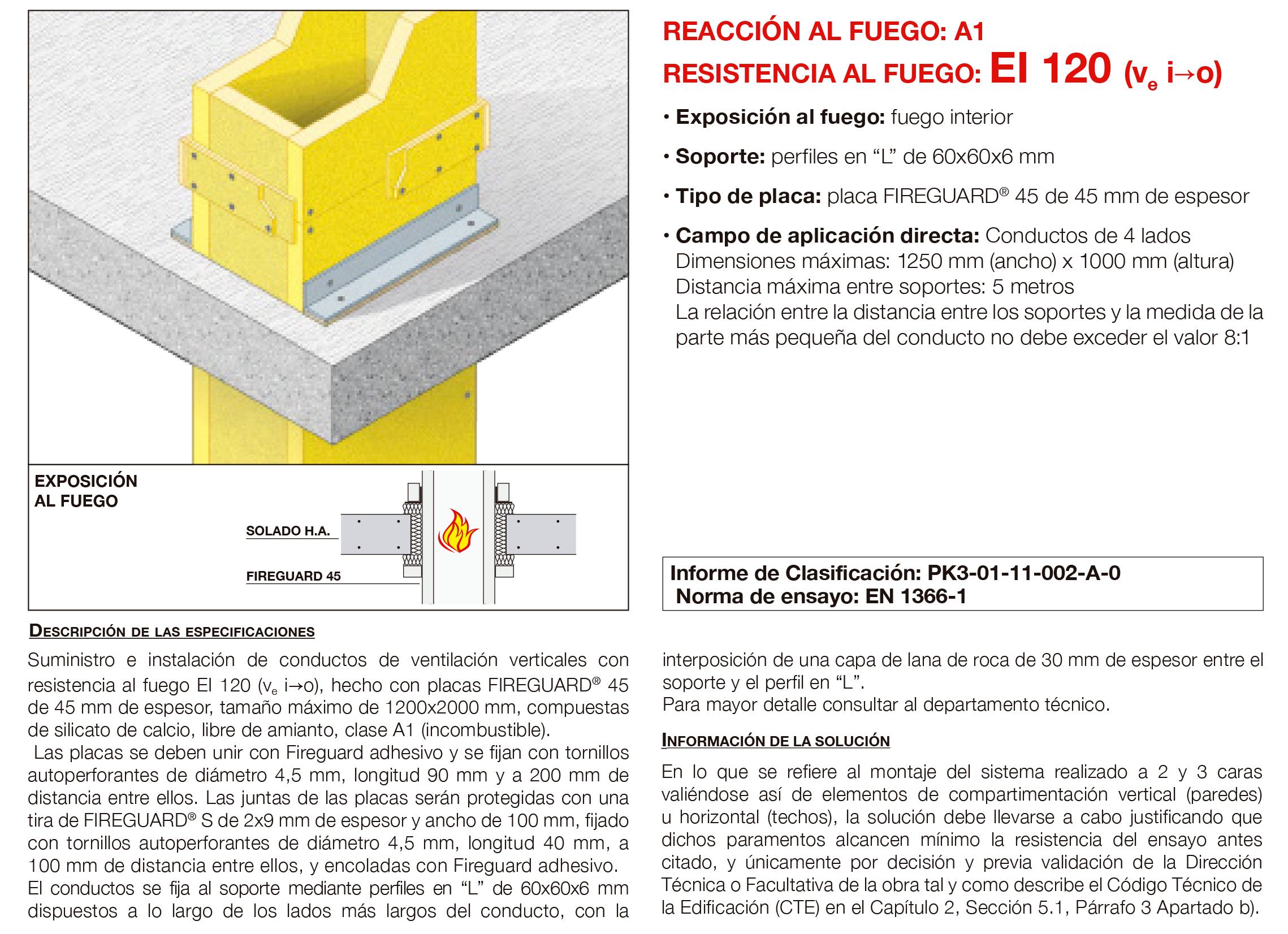 6.03 Conducto de Ventilacion Vertical Fuego Interno con Placa EI120´