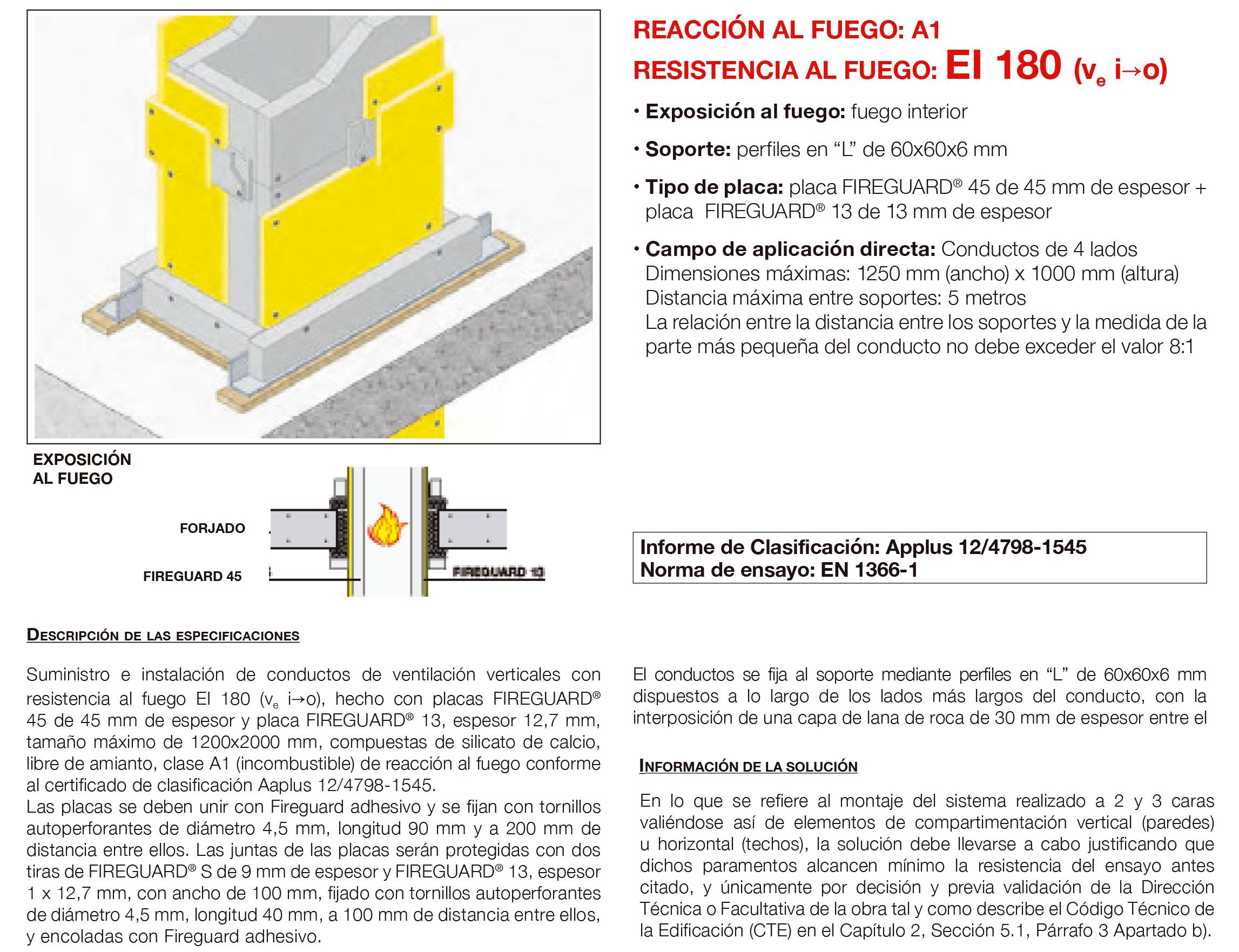 6.05 Conducto de Ventilacion Vertical Fuego Interno con Placa EI180´