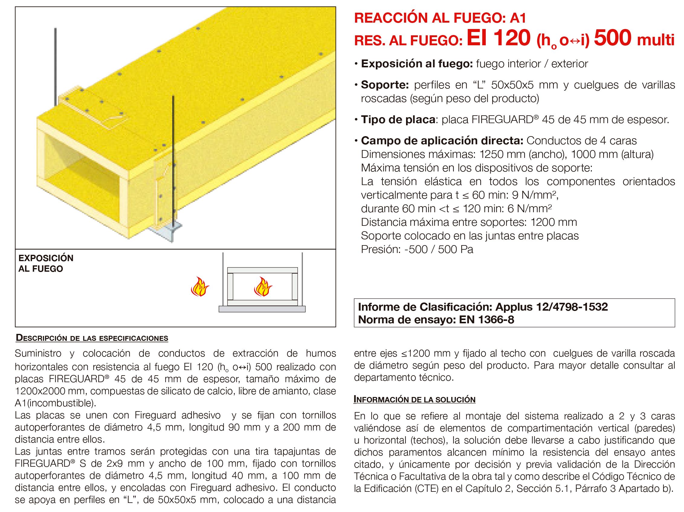 6.06 Conducto de Extraccion de Humos Horizontal con Placa EI120´